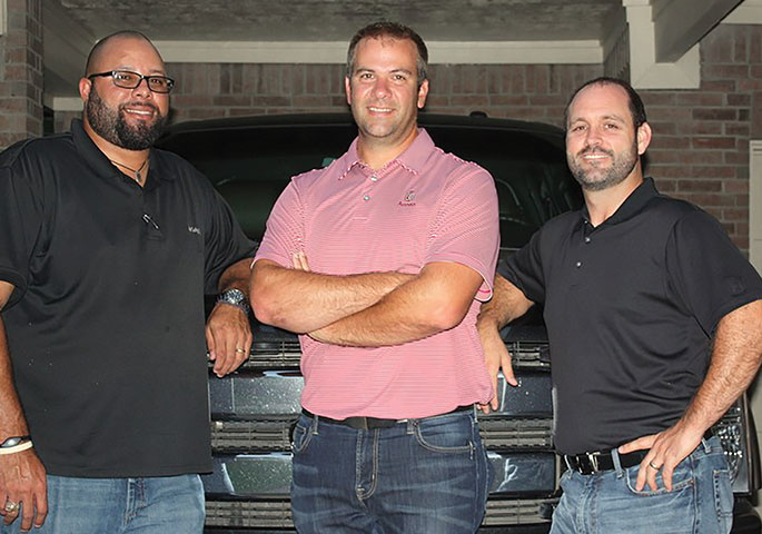 Right Turn Supply partners (left to right) are:  Tim Hutton, Jon Heinen and Patrick Robinson