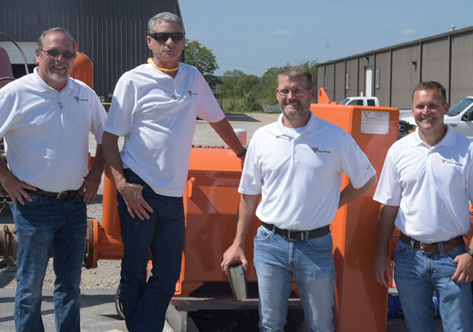 Pictured, left to right, are: Terry Flynn, vice president of sales and marketing; John Donohue, vice president of operations; Trevor Young, president; Troy Young, vice president.