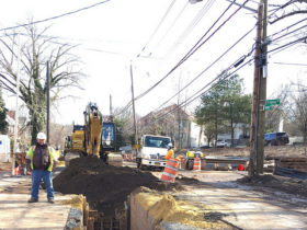 Construction commences on $46 million sewer and water project in New York City. Photo courtesy of New York City's Department of Environmental Protection.