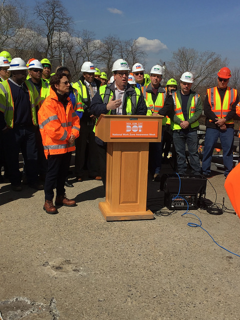 New York City Celebrates National Work Zone Awareness Week