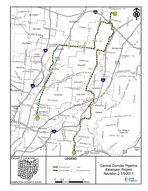 Central Corridor Pipeline Map.