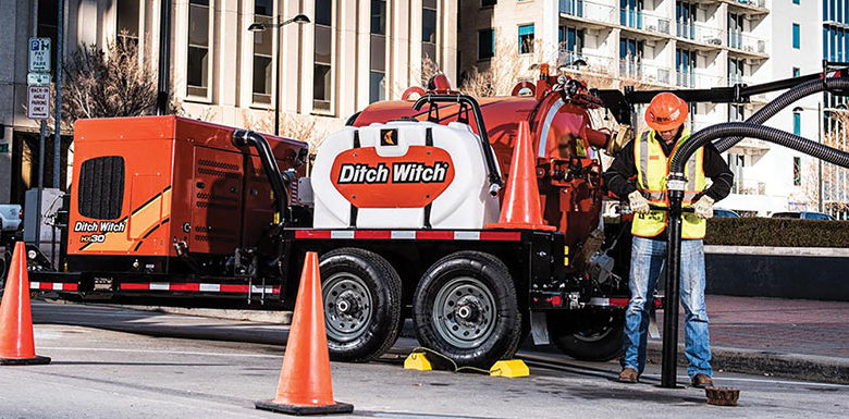 Ditch Witch vacuum excavator