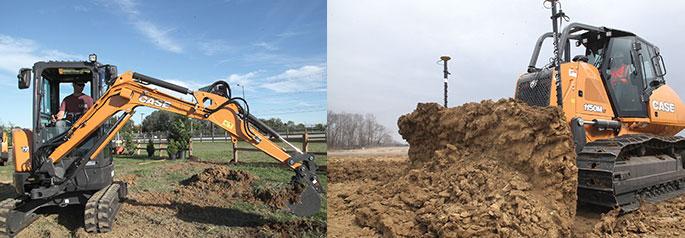 Case C Series compact excavator,