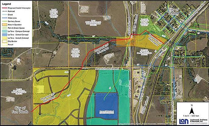 LAN Selected as Engineer for City of Haslet LeTara Development Sewer Interceptor