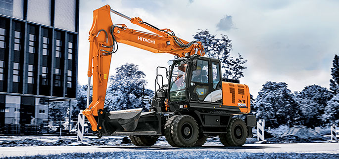 Hitachi introduces its next-generation wheeled excavator