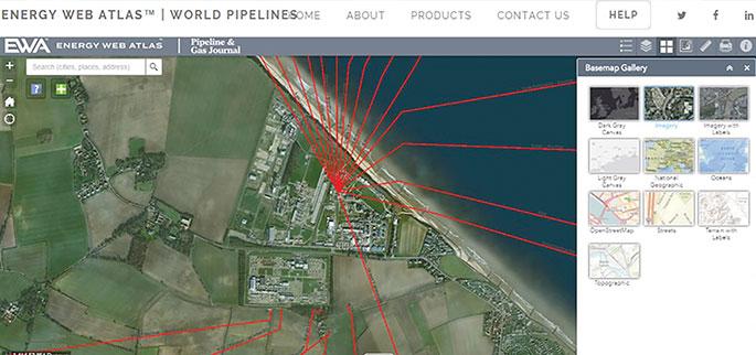 Energy Web Atlas pipelines