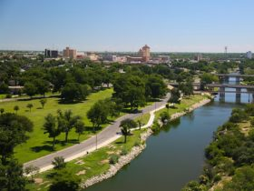 Aerial view of Concho River (photo: City of San Angelo)