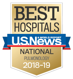 US News best hospitals in pulmonology