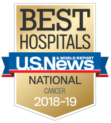 US News Best Hospitals Cancer 2019-19 badge