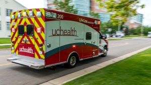 UCHealth LifeLine ground transport vehicle