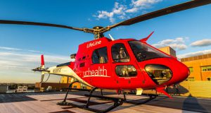 UCHealth LifeLine helicopter