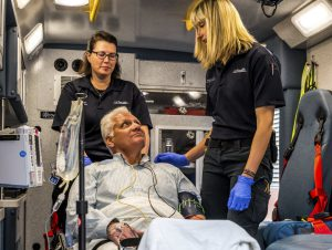 Patient with UCHealth EMS response team