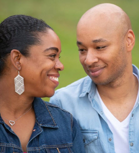 Heart attack patient Dominique Waithe-Cunningham and wife Alicia