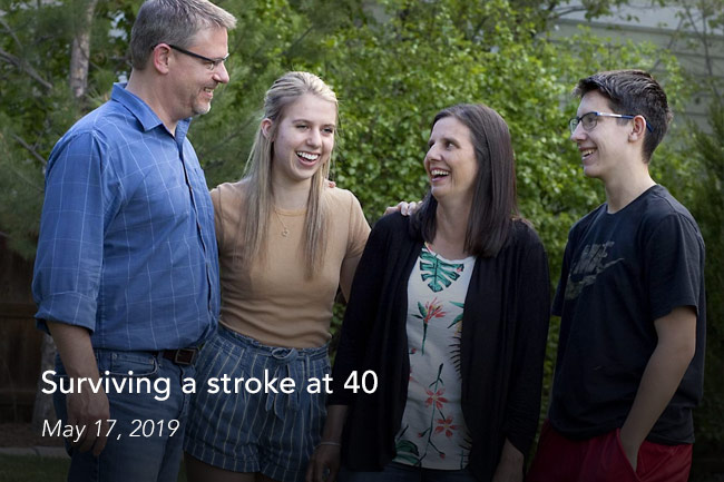 stroke at age 40