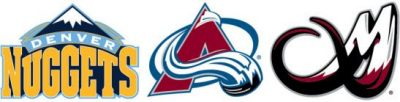 nuggets avalanche mammoth logos