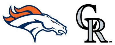 denver broncos logo and colorado rockies logo