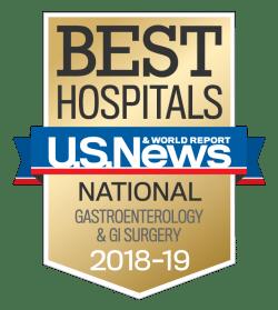 US News UCH Best Hospitals Gastroenterology GI Surgery 2018-19
