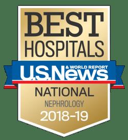US News UCH Best Hospitals Nephrology 2018-19