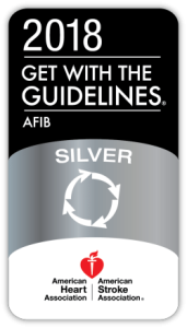 Get with the Guidelines Afib 2018 badge