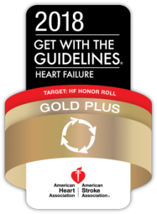 Get with the Guidelines Heart Failure 2018 badge