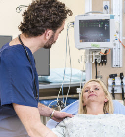 Patient awaiting outpatient surgery