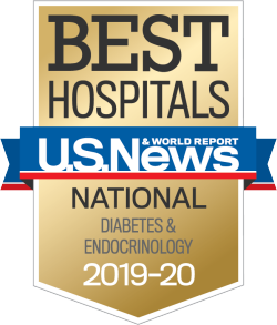 US News Best Hospitals Badge Diabetes Endocrinology 2019-20