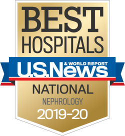 US News Best Hospitals Badge Nephrology 2019-20
