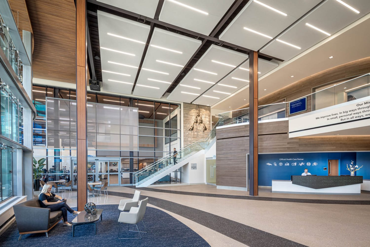 UCHealth Inverness Location Lobby from 1st floor
