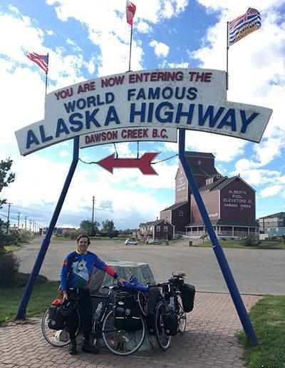 CV bike tour_alaska highway