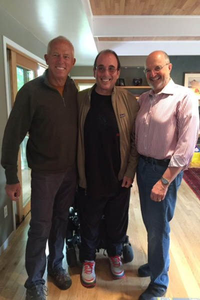 Blake Learned on the left, Jim Cohen in the center and Ben Honigman, MD on the right | UCHealth