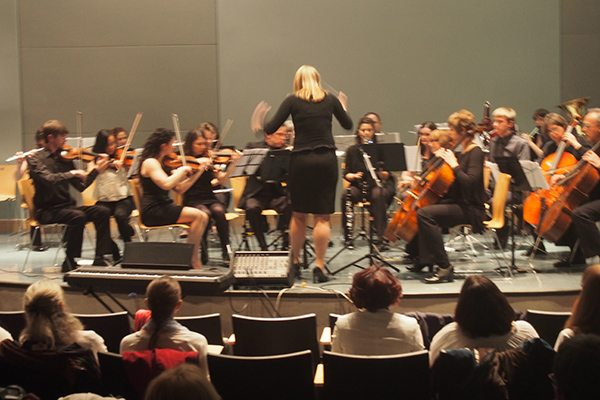 Nina Esch and orchestra