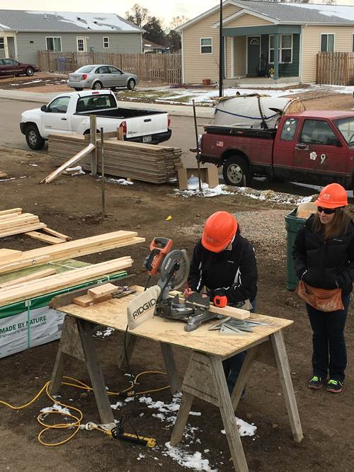 framing a Habitat for Humanity House