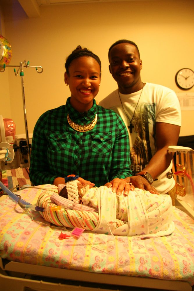 Morgan and Kenny Hicks with baby MacKenzi