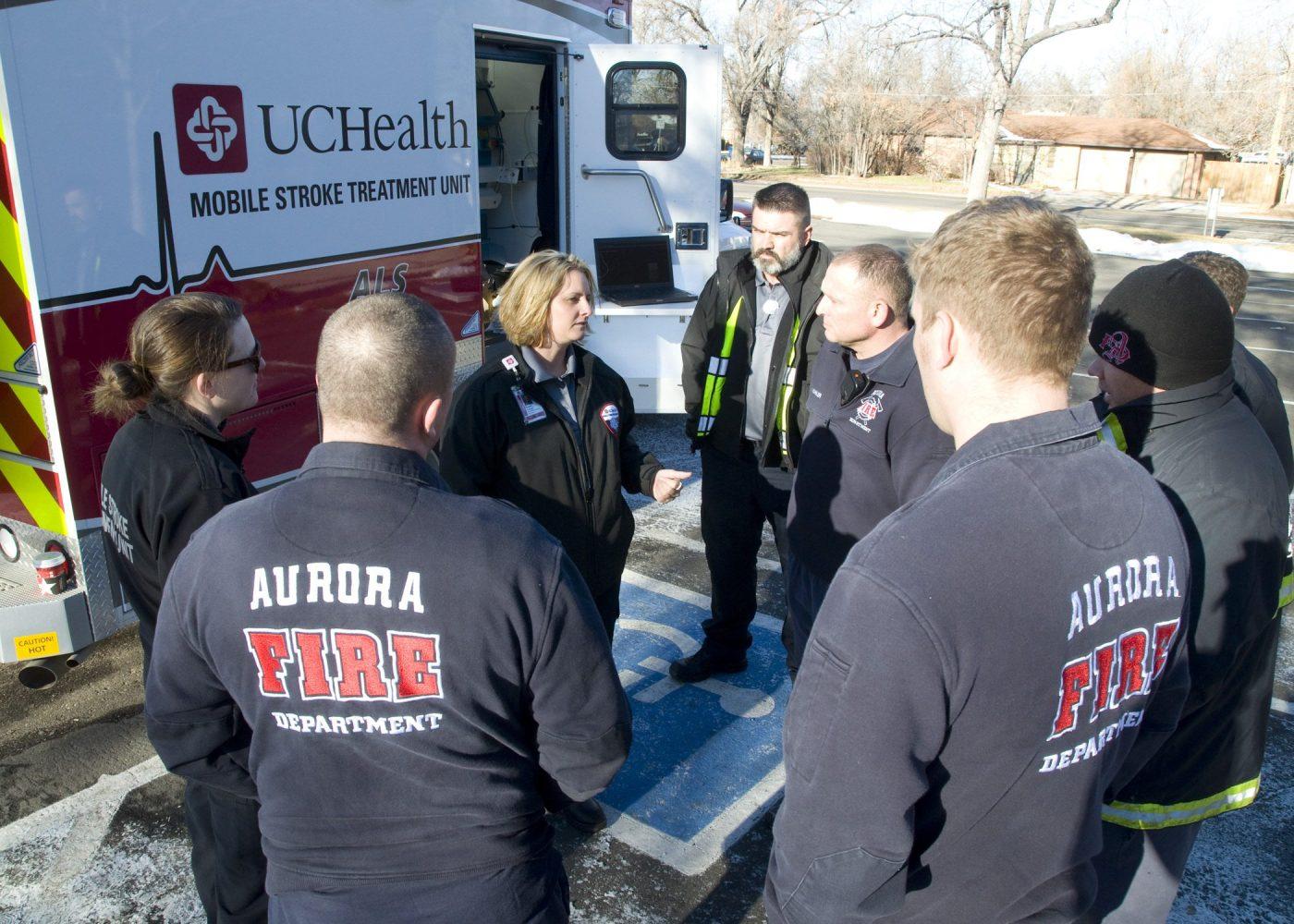 Schimpf talks with the Aurora PD