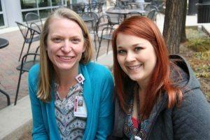 Amy Jones (left) and Angela Wibben joined the Palliative Care team at UCH in September.