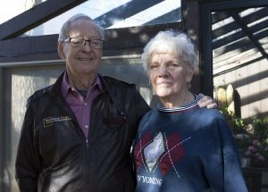 Vivian and Woody Haines at their home in Laramie, Wyoming. Photo by Kati Blocker, UCHealth.