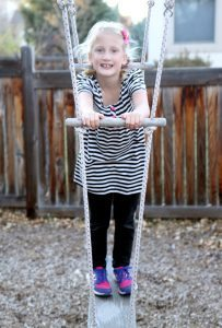 Sofia Armstrong, 8, who was born at 31 weeks gestation at Poudre Valley Hospital, is now a healthy, active girl. Photo by Kati Blocker, UCHealth.