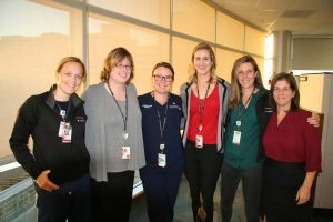 The Stroke Program team at UCH makes an outsized impact on clinical care and education. Left to right: Kerri Jeppson, Christina Denton, Meredith Snyder, Toni Schoenleber, Tovah Adler, Angela Vasilatos.