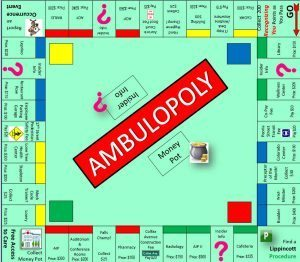 picture of UCH's spin off the Monopoly board
