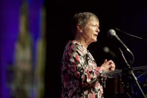 Ficco speaks at the Jan. 28 Hearts of All Ages event