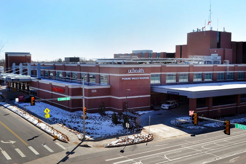 view of hospital's new emergency department from across the street