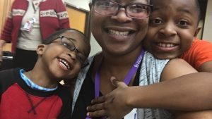 Cynthia Joi Towner is shown with her sons, Rhylee and Javyn.