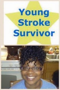 Cynthia Joi Towner, who suffered a stroke at the age of 33, is shown.