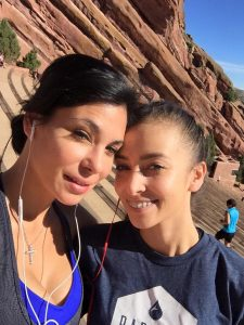 Danielle with her mom Destiny at Red Rocks.