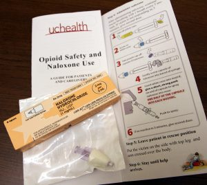The drug naloxone (brand name is Narcan) can reverse overdoses from heroin and other opioid painkillers. Narcan kits, now available at UCHealth retail pharmacies in northern Colorado, provide two doses of the drug, educational materials and instructions to administer the nasal spray.