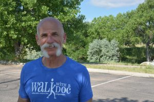 Dr. Laurence (Larry) Cohen, an emergency room physician for UCHealth Memorial Hospital, hosts a Walk with a Doc event on Sundays in Colorado Springs.