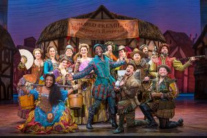 The cast of Something Rotten at the Denver Center for the Performing Arts.