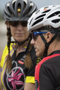 Dan Geery is pictured with his wife, Ann Geery, on a recent bike ride.