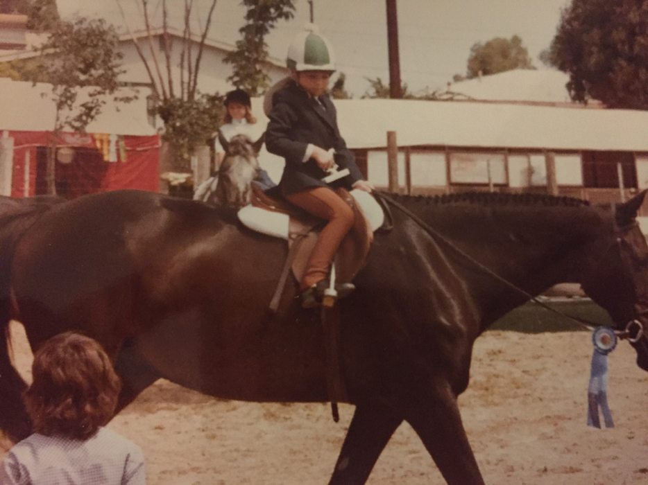 Lindsay Pratt learned to love horses as a little girl.