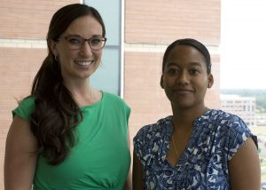 Portrait of Kasey Bowden, left, and Amira Del Pino-Jones, who launched UCHealth's University of Colorado Hospital's Sickle Cell Transitions program.